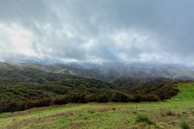 Storm clouds in the Los Padres National Forest in California.