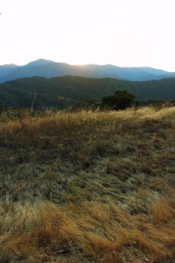 Sunset in the Los Padres National Forest