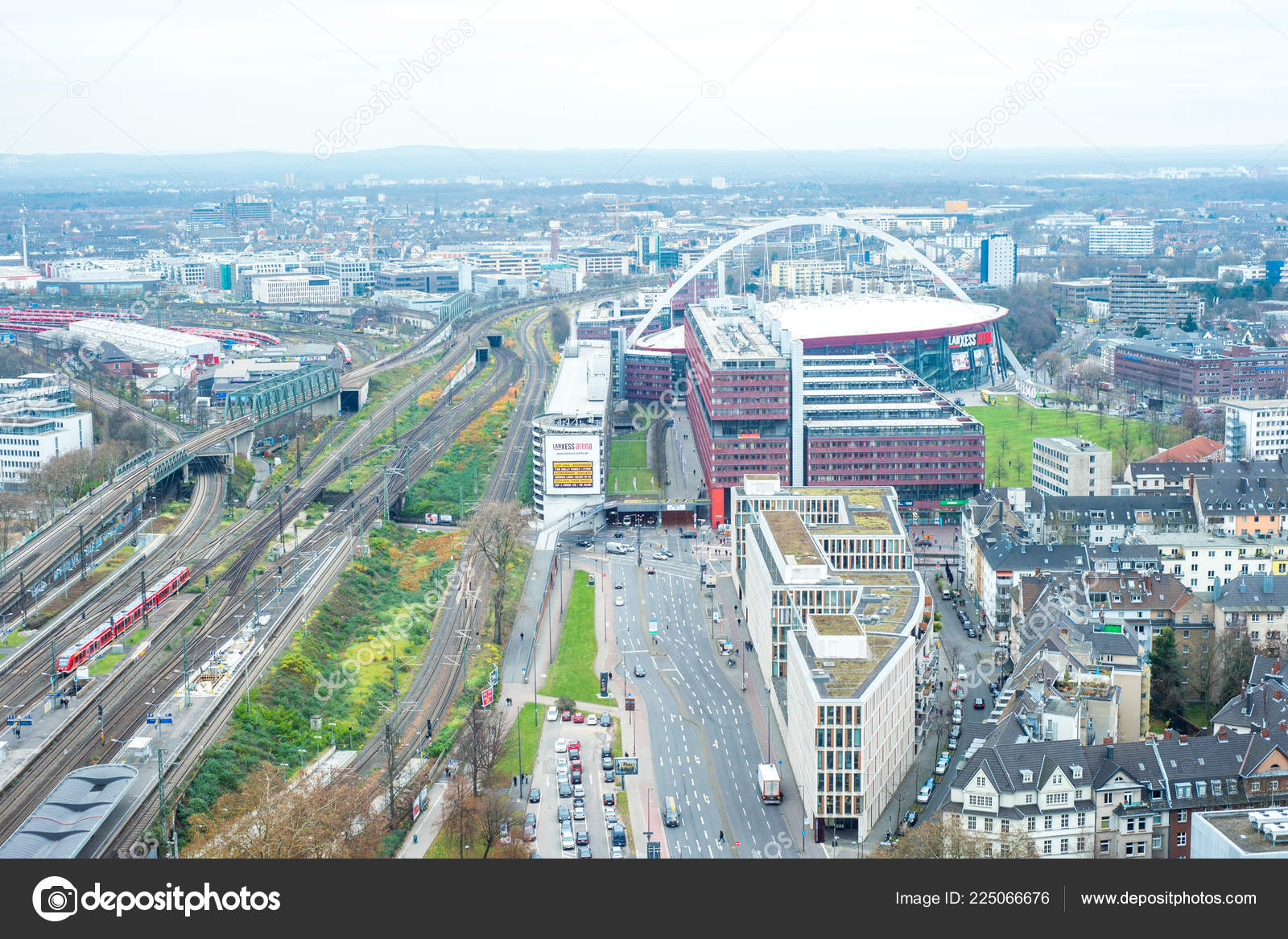Cologne Germany December 2017 Aerial View Cologne Germany