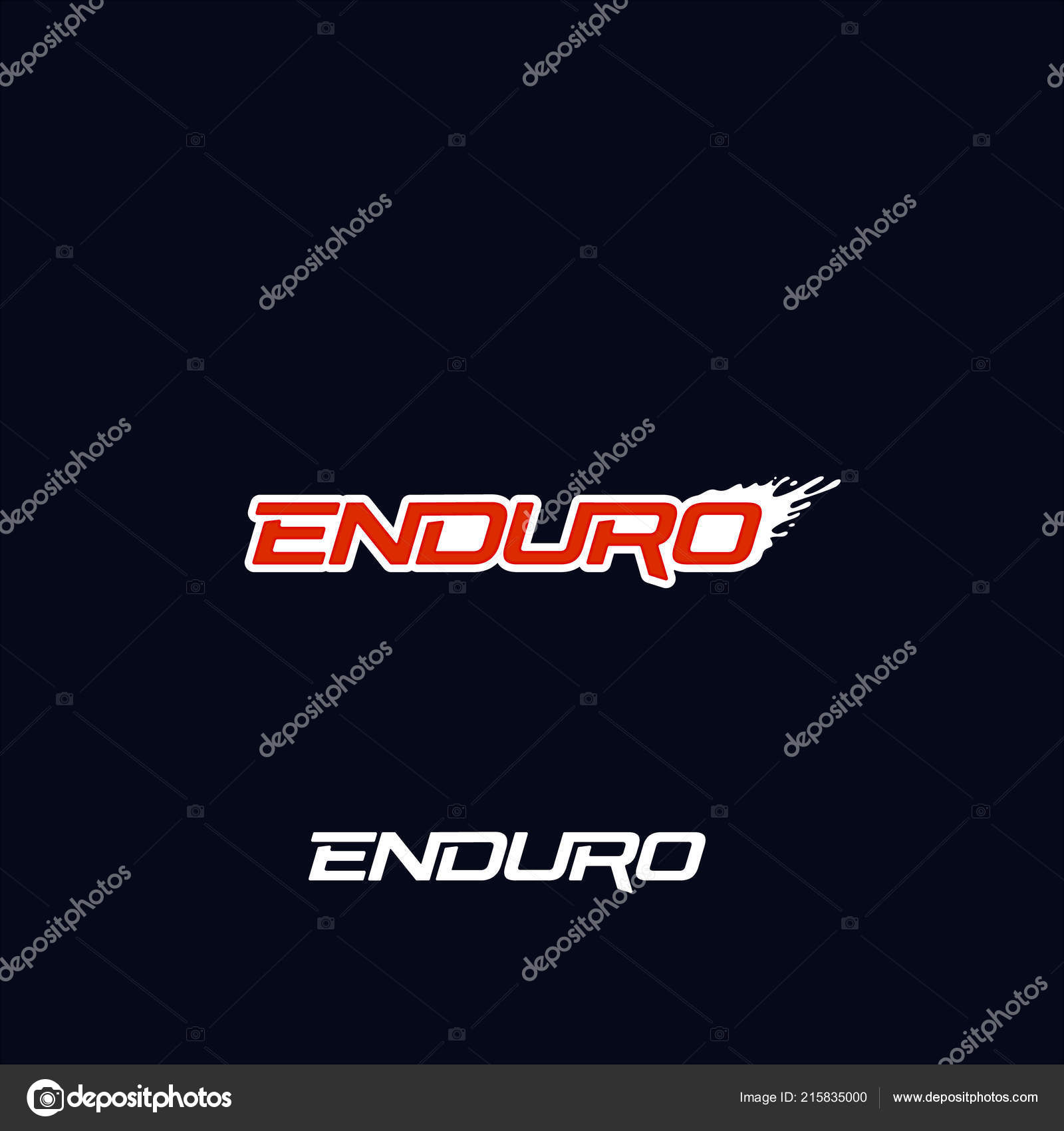 enduro logo vector design dirt splash extreme off road motorcycle