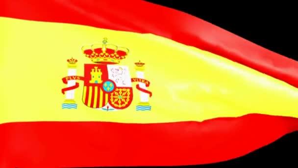Spanyol zászló-hullámzó - 3d rendering videóinak
