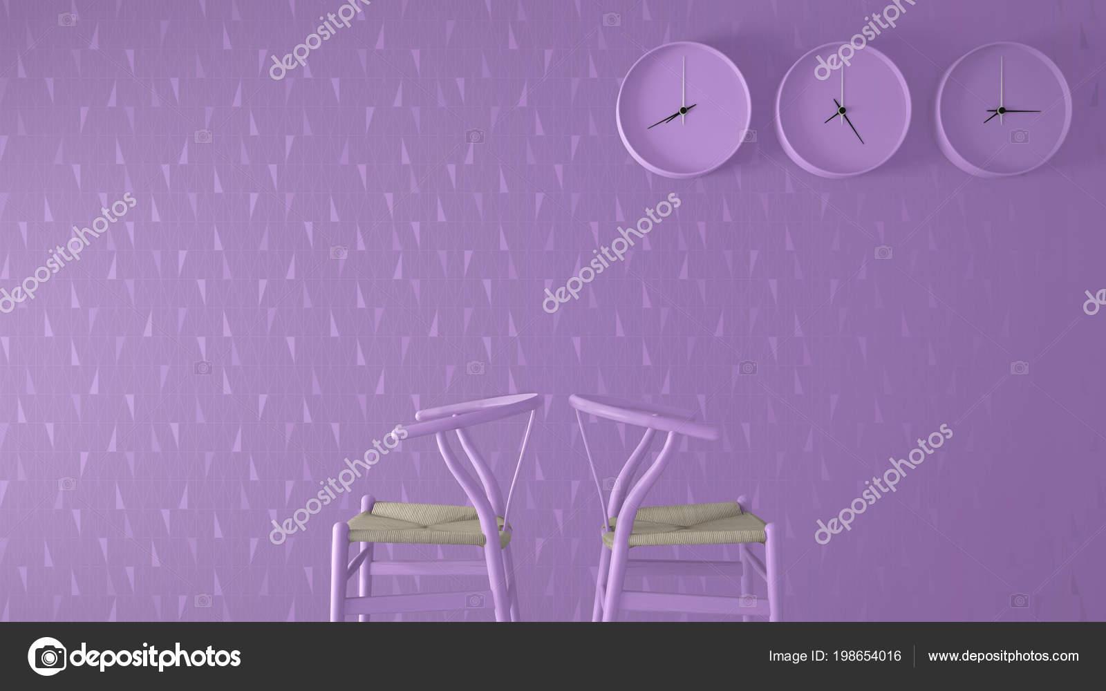 Minimalistische Architekt Designer Konzept Uhren Monochrome Warten  Wohnzimmer Mit Klassischen U2014 Stockfoto