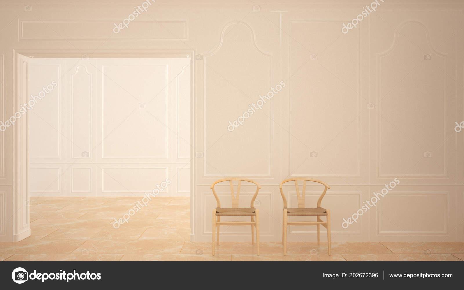 Interiores Madera Suelo Diseño Sillas Habitación Vacía Con Mármol 3L54ARj