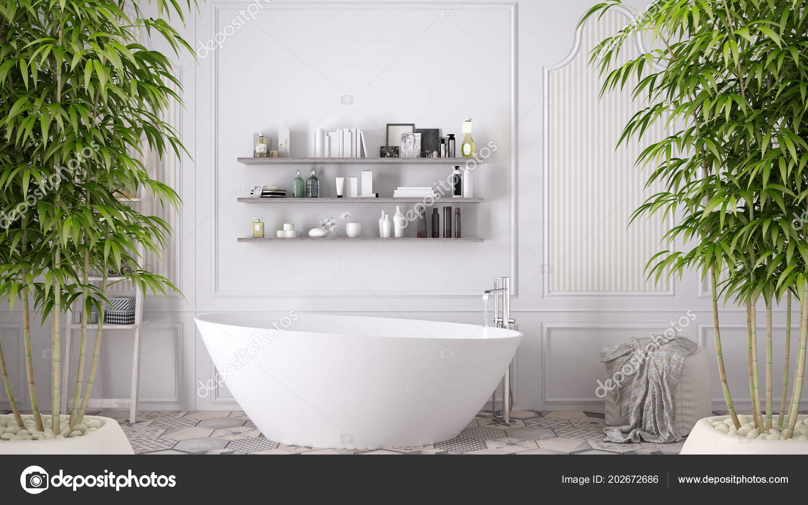 Zen Interior Potted Bamboo Plant Natural Interior Design Concept ...