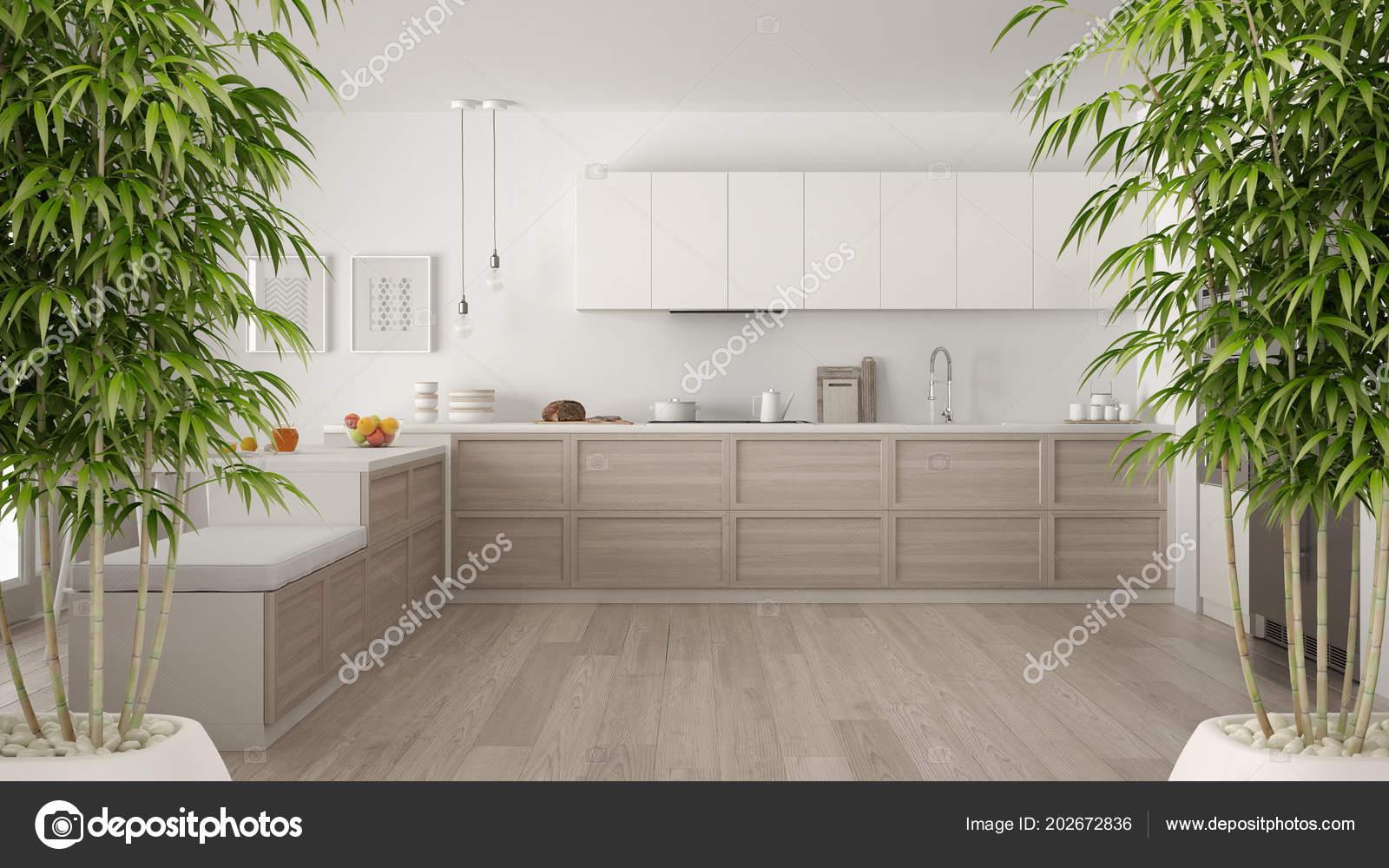 Interiore Zen Con Pianta Bambù Vaso Concept Arredo Naturale ...