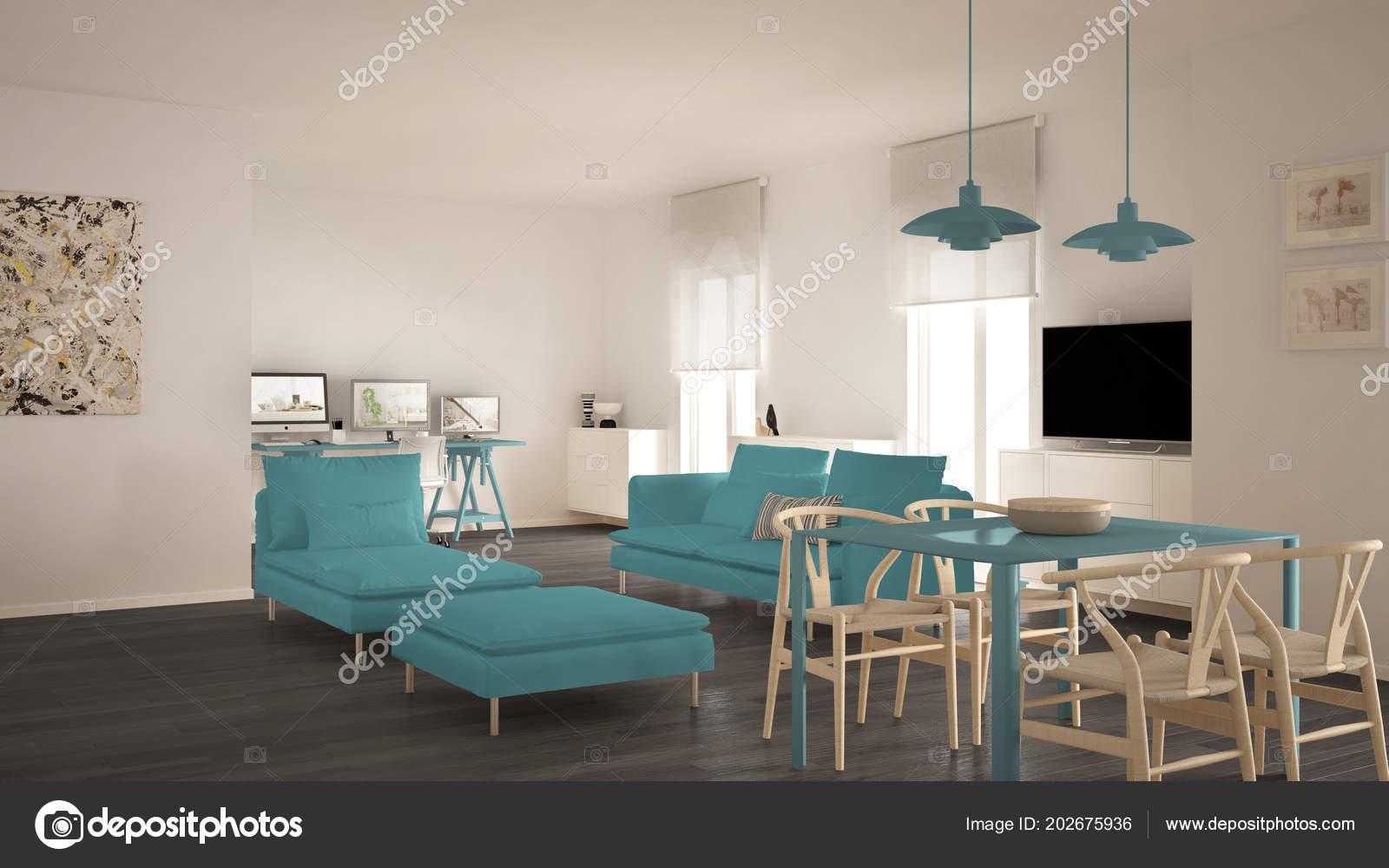 Meridienne Moderne Pour Salon salon contemporain scandinave espace ouvert avec table
