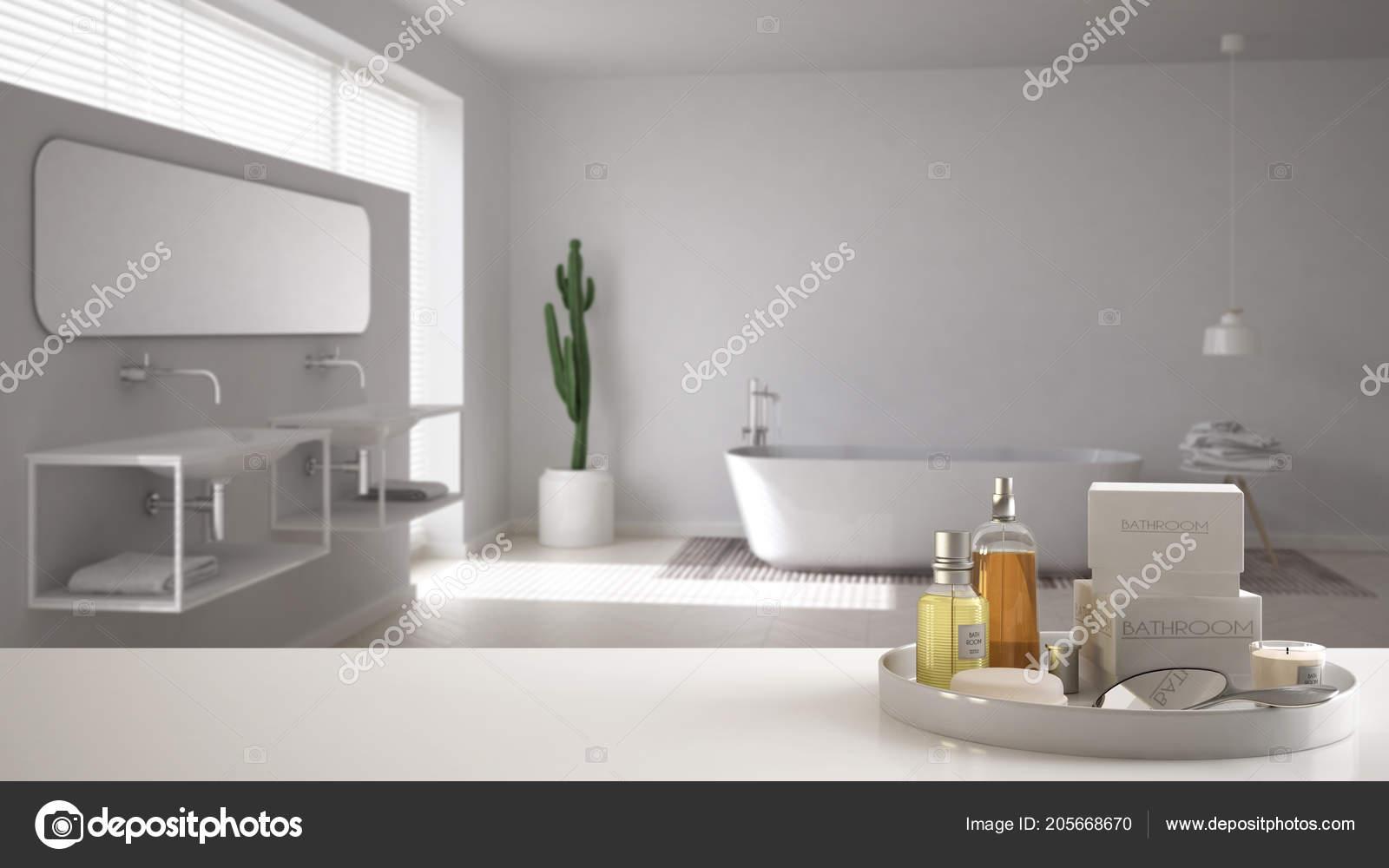 Spa Concepto Cuarto Baño Del Hotel Blanco Mesa Repisa Con ...