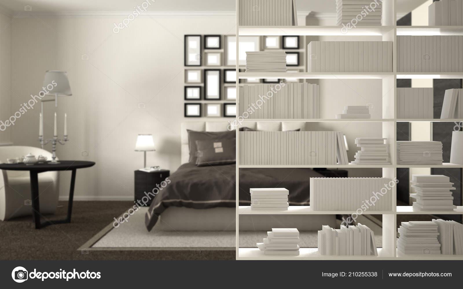 Bookshelf Close Shelving Foreground Interior Design Concept