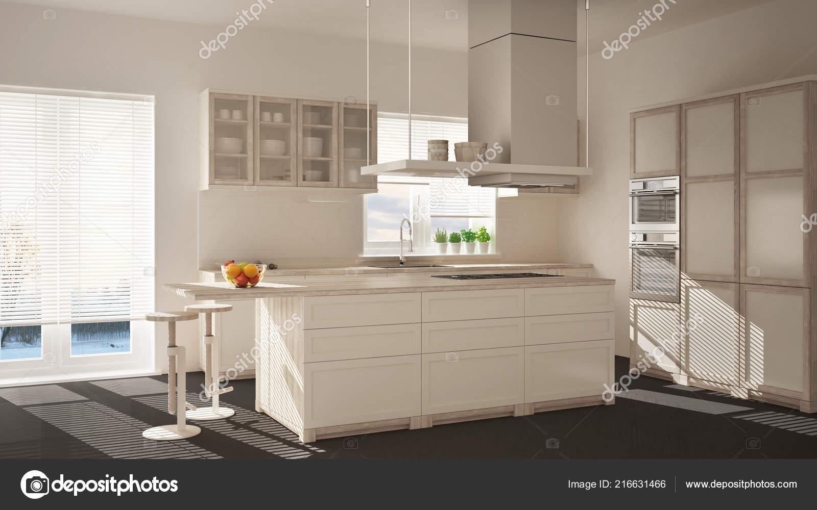 Pleasant Modern Wooden White Kitchen Island Stools Windows Parquet Machost Co Dining Chair Design Ideas Machostcouk