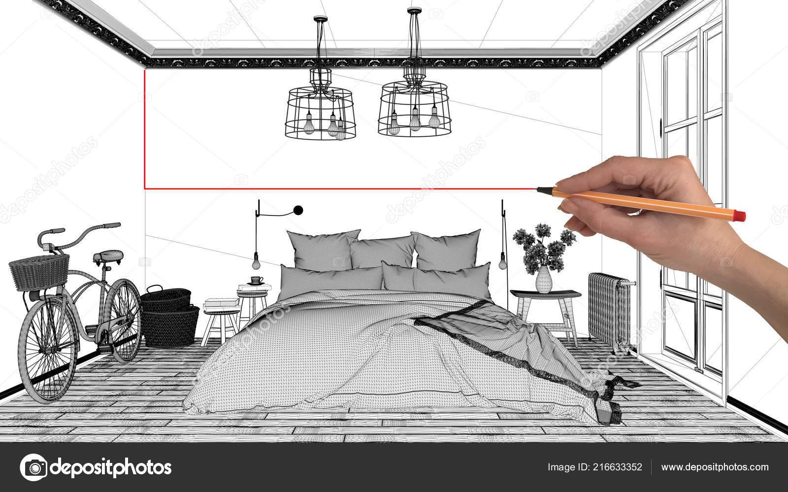 Projektowanie Wnętrz Projekt Koncepcji Rysunek Architektury