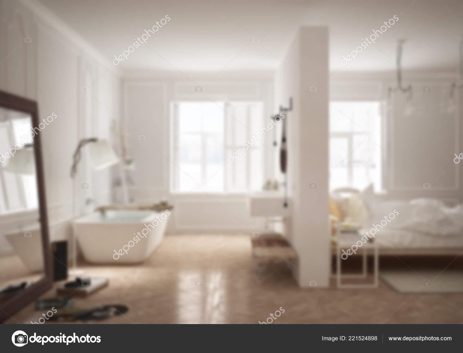 Luxus Schlafzimmer Mit Badezimmer Skandinavischen Stil Minimale ...