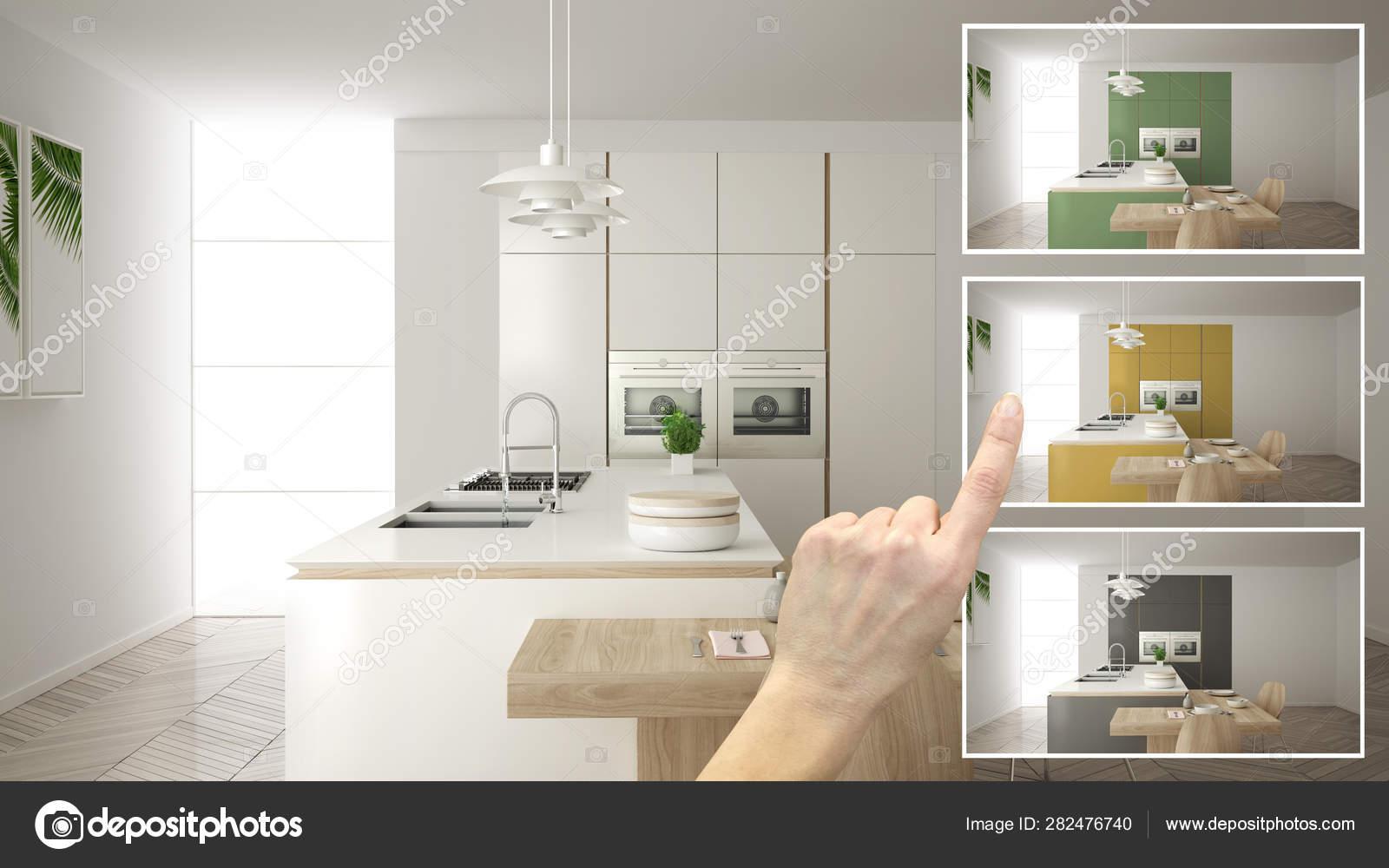Architetto progettista concetto, mano mostrando colori ...