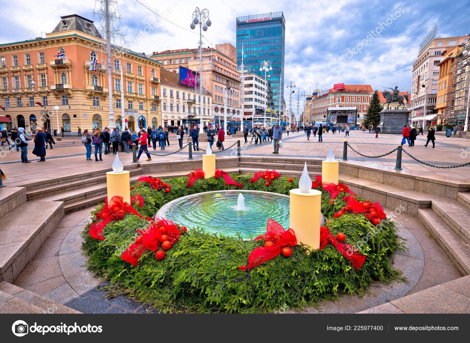 Zagreb Croatia December 2017 Zagreb Main Square Advent View