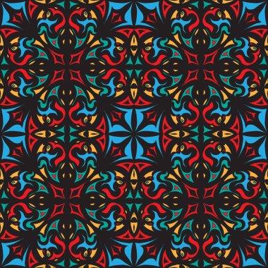 decorative abstract tiled eastern mediterranian seamless pattern