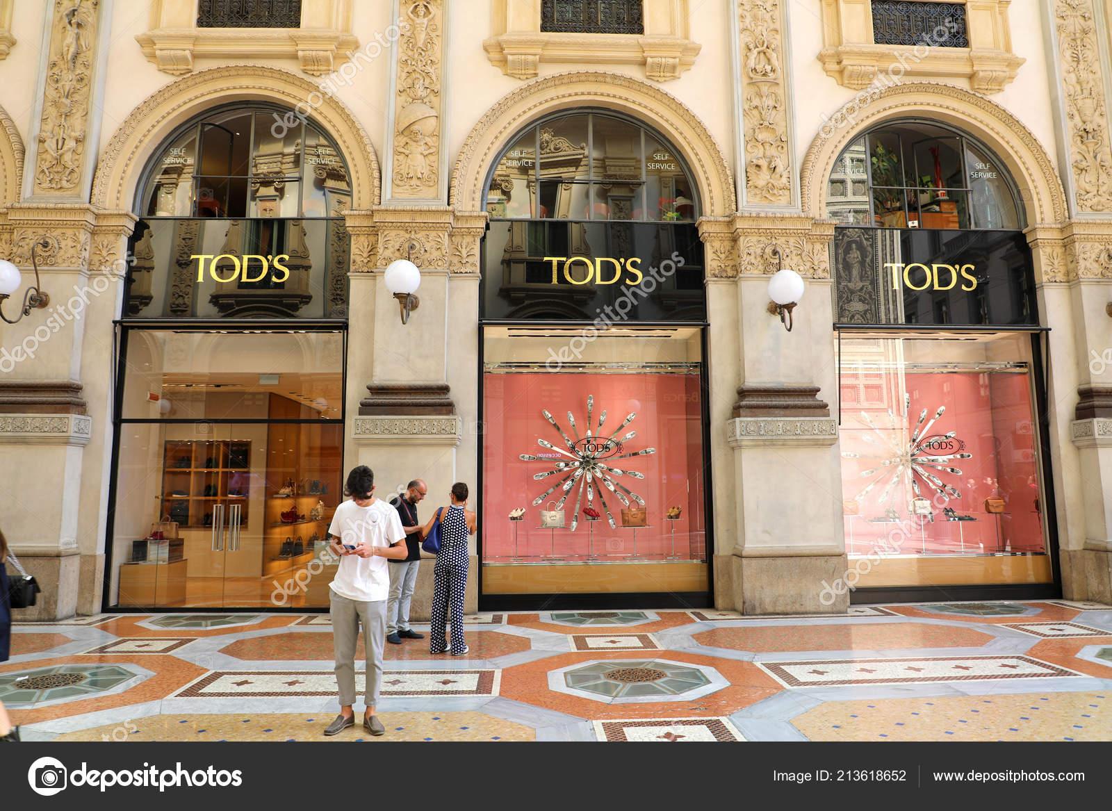 Milan Italy September 2018 Facade Tod Store Galleria Vittorio