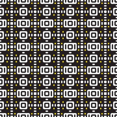 Geometric seamless pattern black and white of squares. Vector.