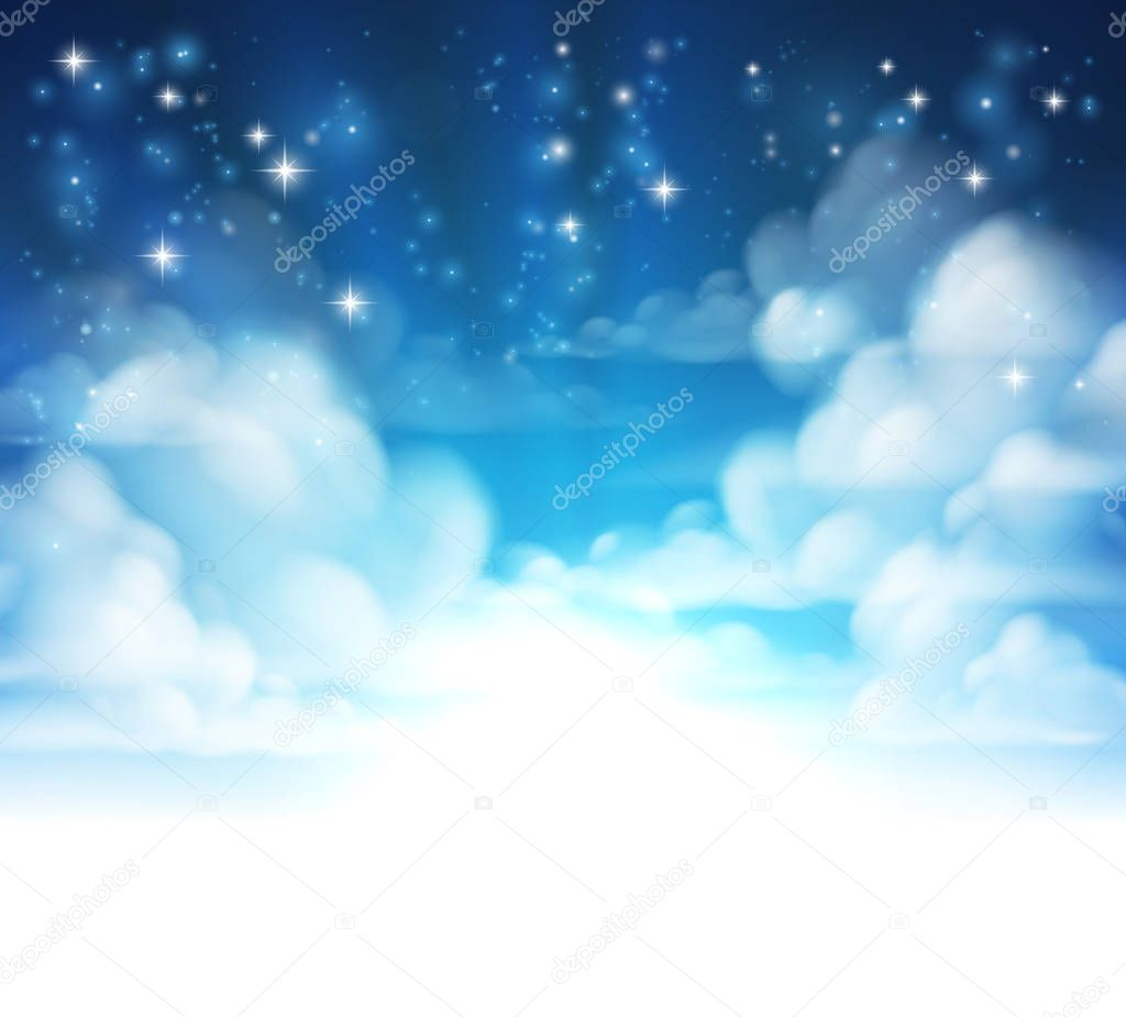 Clouds Background Header