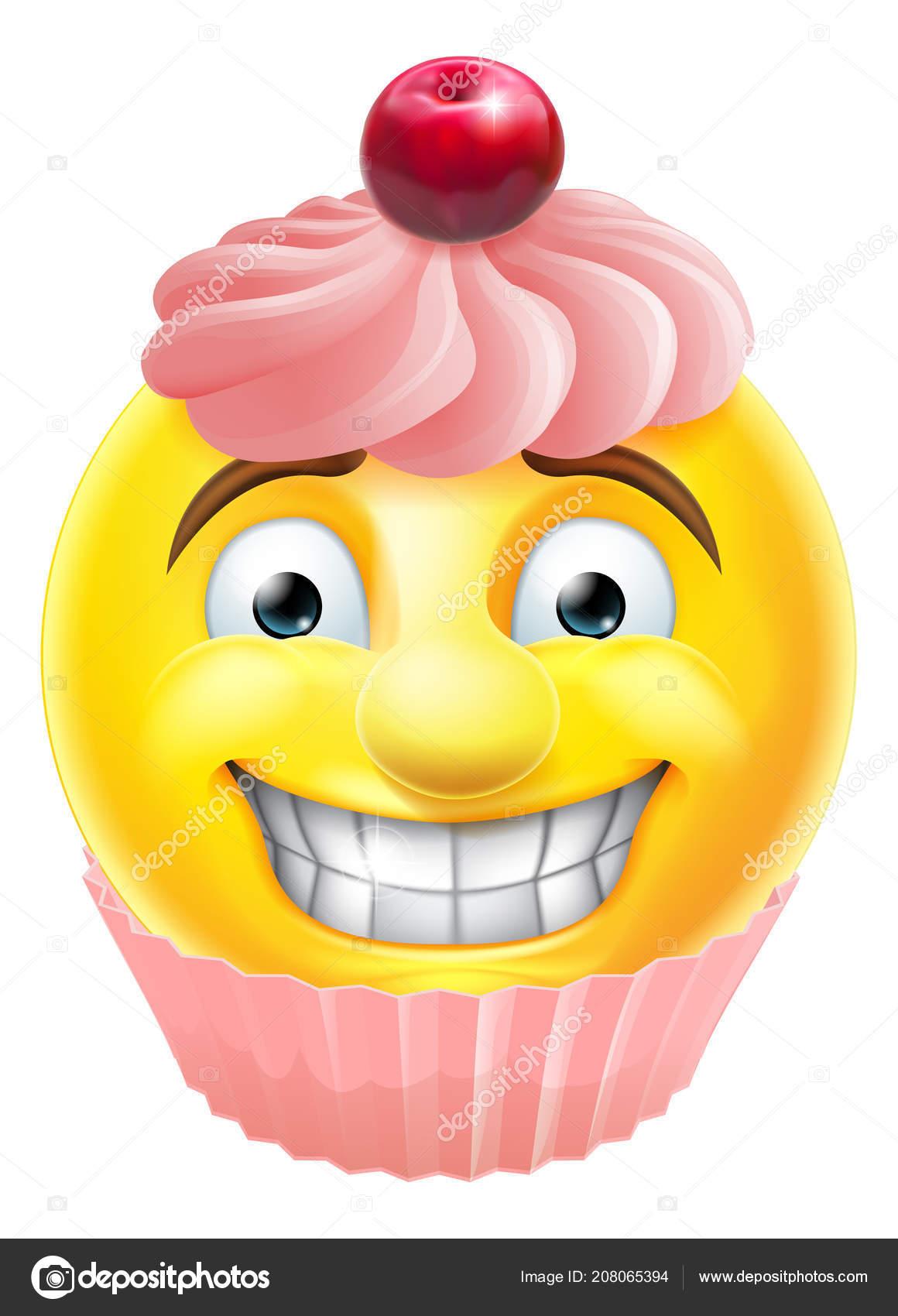 Immagini emoticon cupcake emoticon emoji cupcake rosa