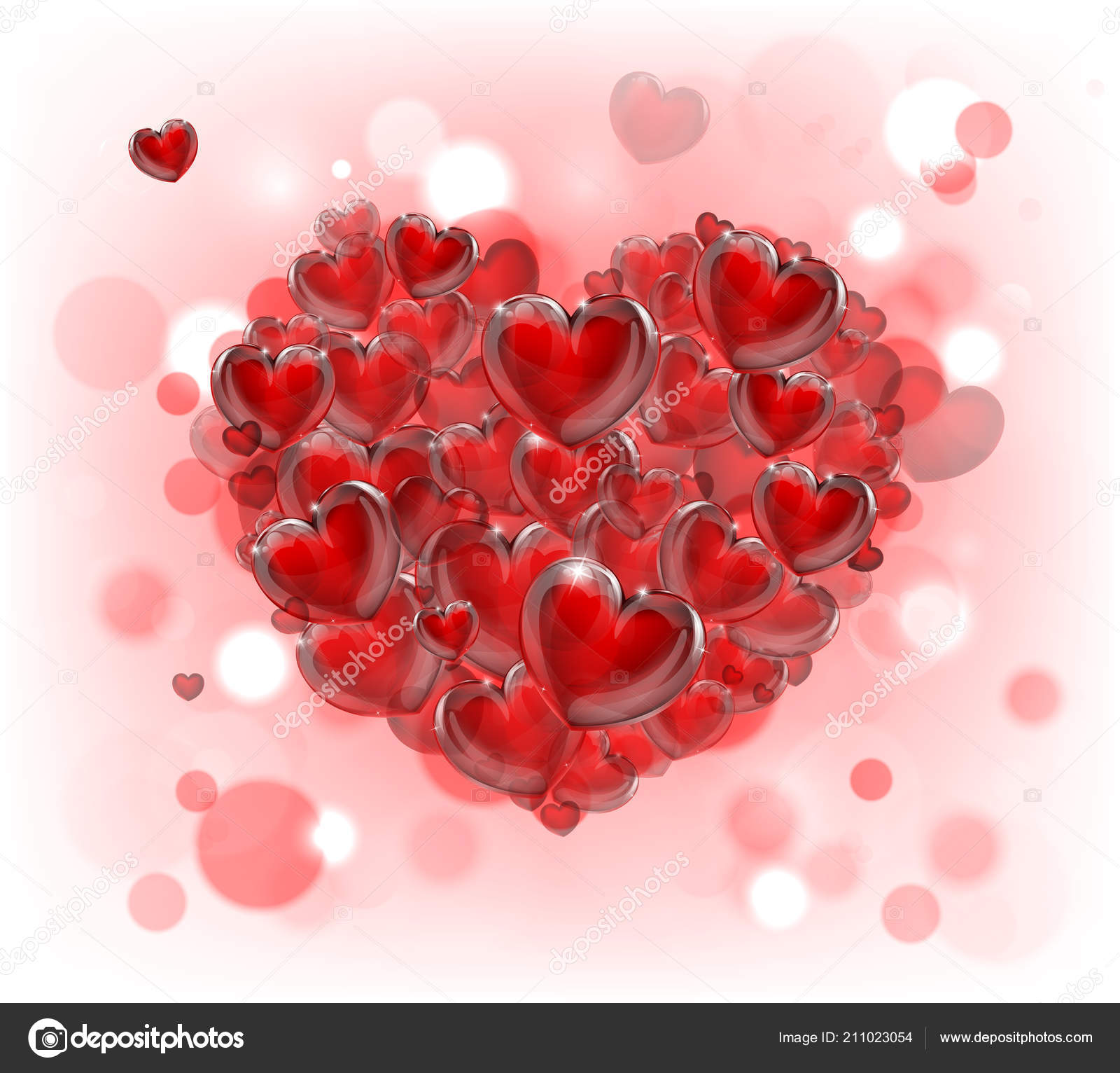 fond coeur saint-valentin — image vectorielle krisdog © #211023054