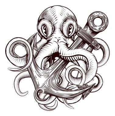 Octopus Holding Anchor