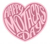 Rosa Muttertagsherz