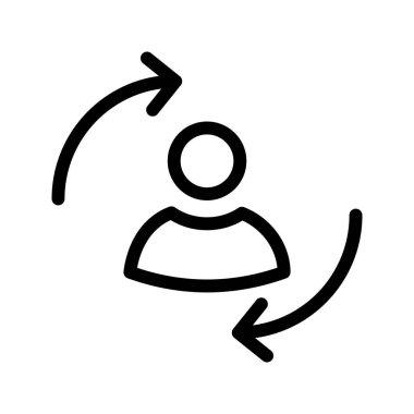user exchange line vector icon