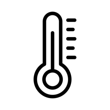 thermometer thin line vector icon