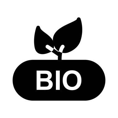 BIO glyph flat vector icon icon