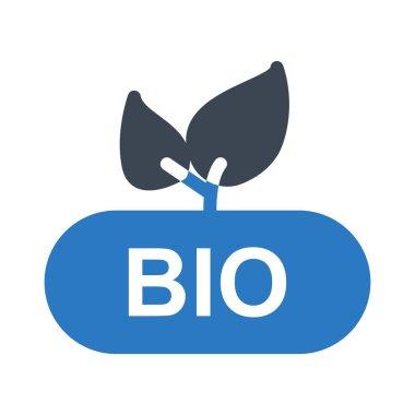 BIO glyph color vector icon icon