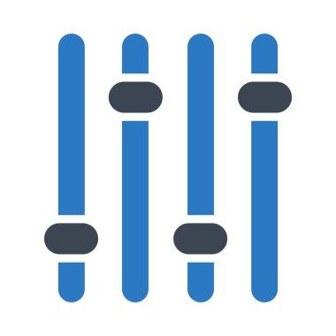 adjustment glyph color vector icon
