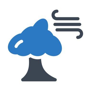 hurricane glyph colour vector icon