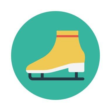 shoe glyph flat vector icon