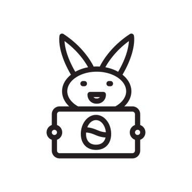 bunny vector thin line icon