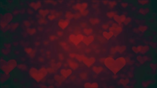 valentines day loopable abstract background, flying hearts