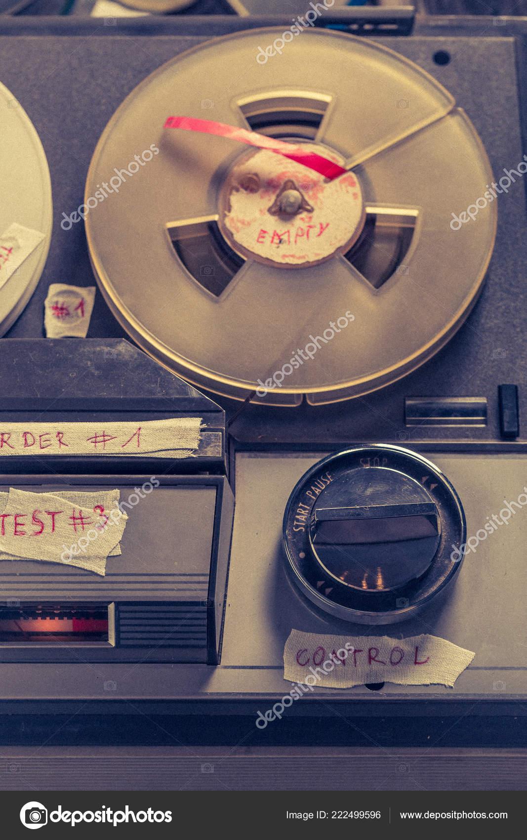 Old Reel Audio Recorder Few Rolls Tape — Stock Photo © Shaiith79