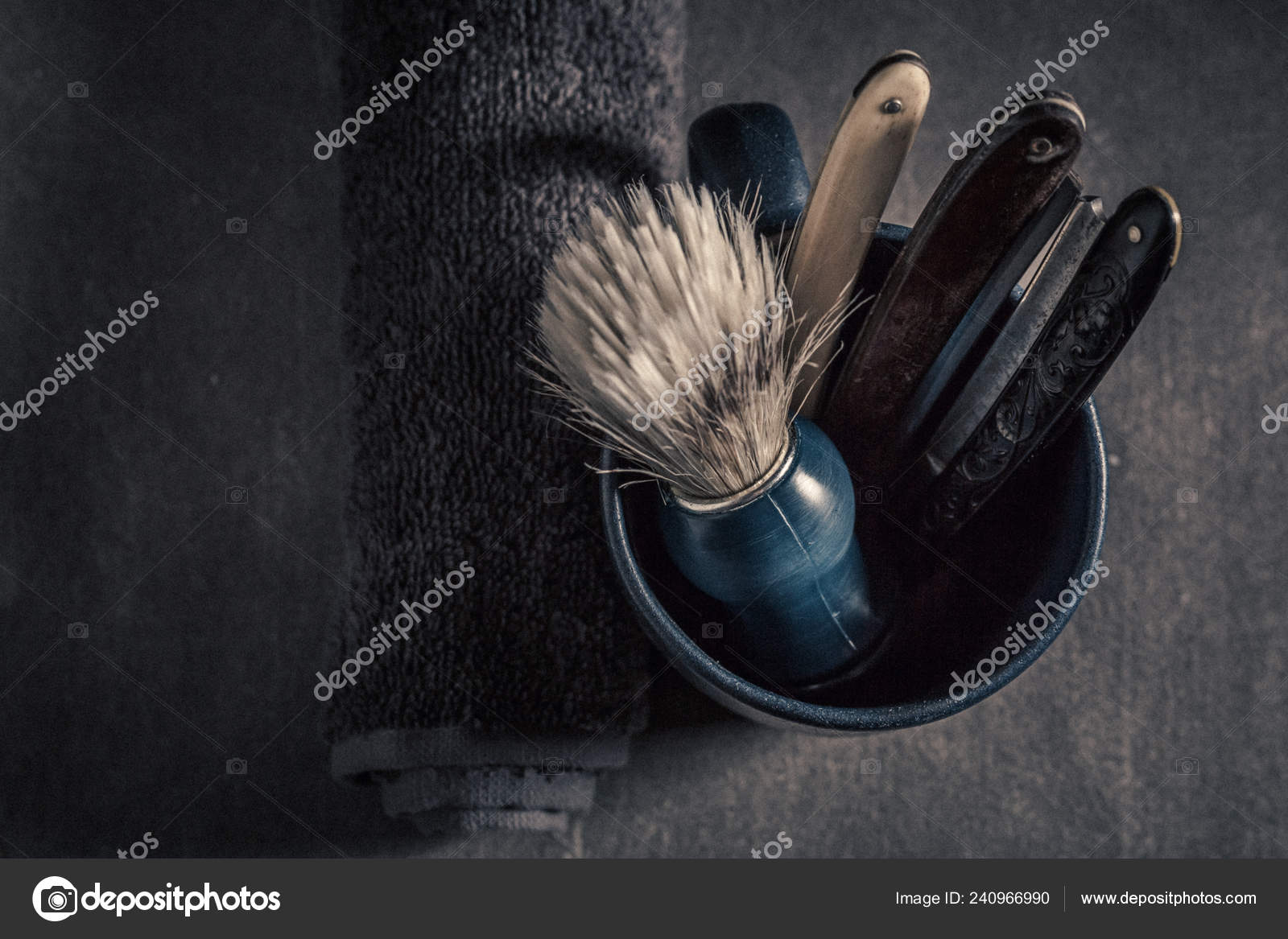 super quality factory outlets presenting Set Barba Antico Con Schiuma Vecchio Rasoio Pennello — Foto ...
