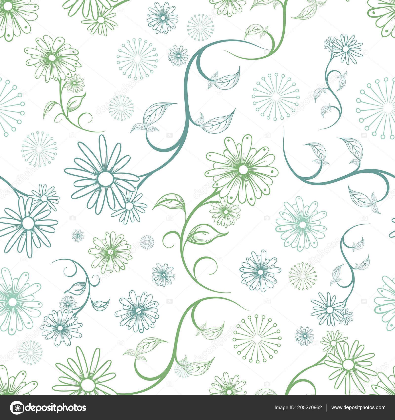 Kvetinovy Vzor Bezesve Vektorove Grafice Kresleni Aplikaci