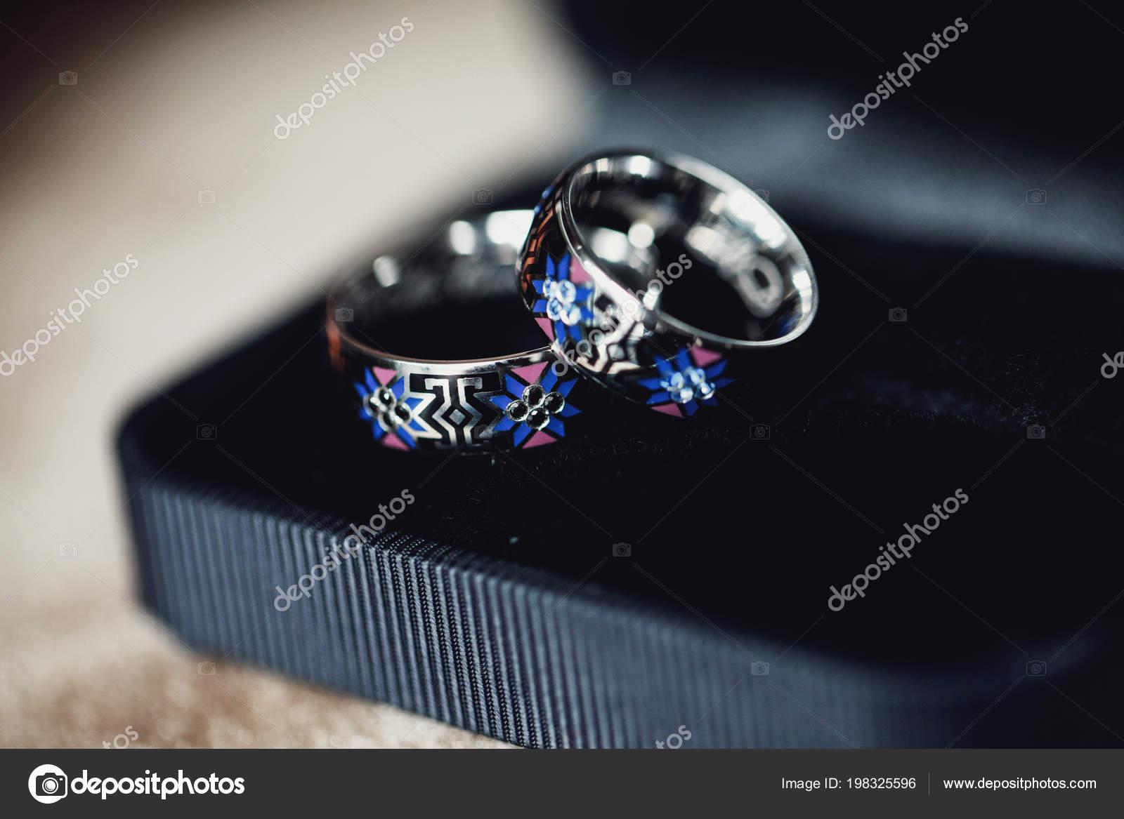 Stylish Wedding Rings Background Stock Photo Image By C Vaksmanv101 198325596