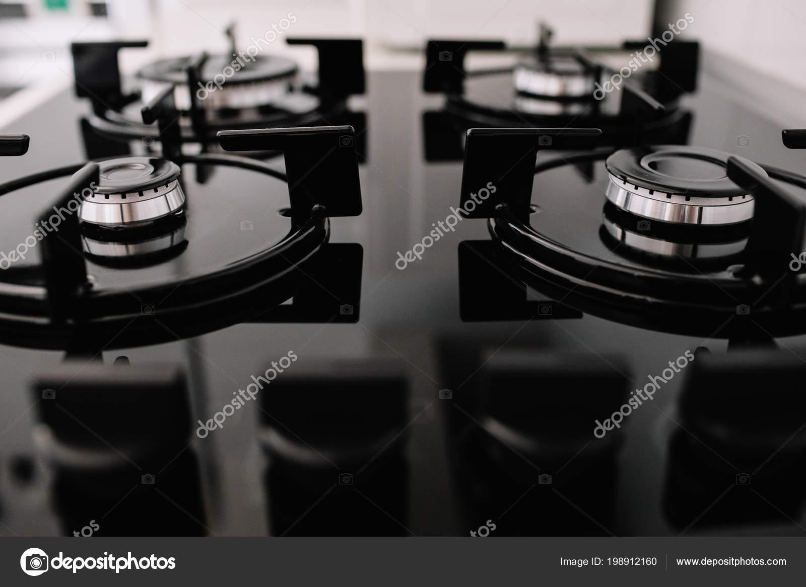 Piano Cottura Piano Cottura Cucina Metallo Fornello Cucina — Foto ...