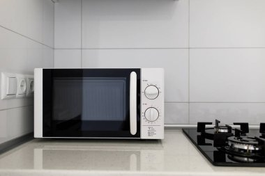 modern Microwave Oven on  Background