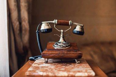 Retro Phone - Vintage Telephone  on table