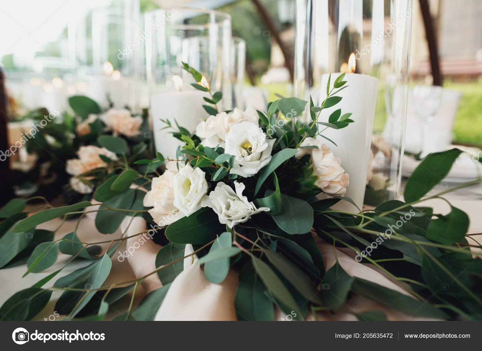 Table Setting Wedding Reception Stock Photo Vaksmanv101 205635472