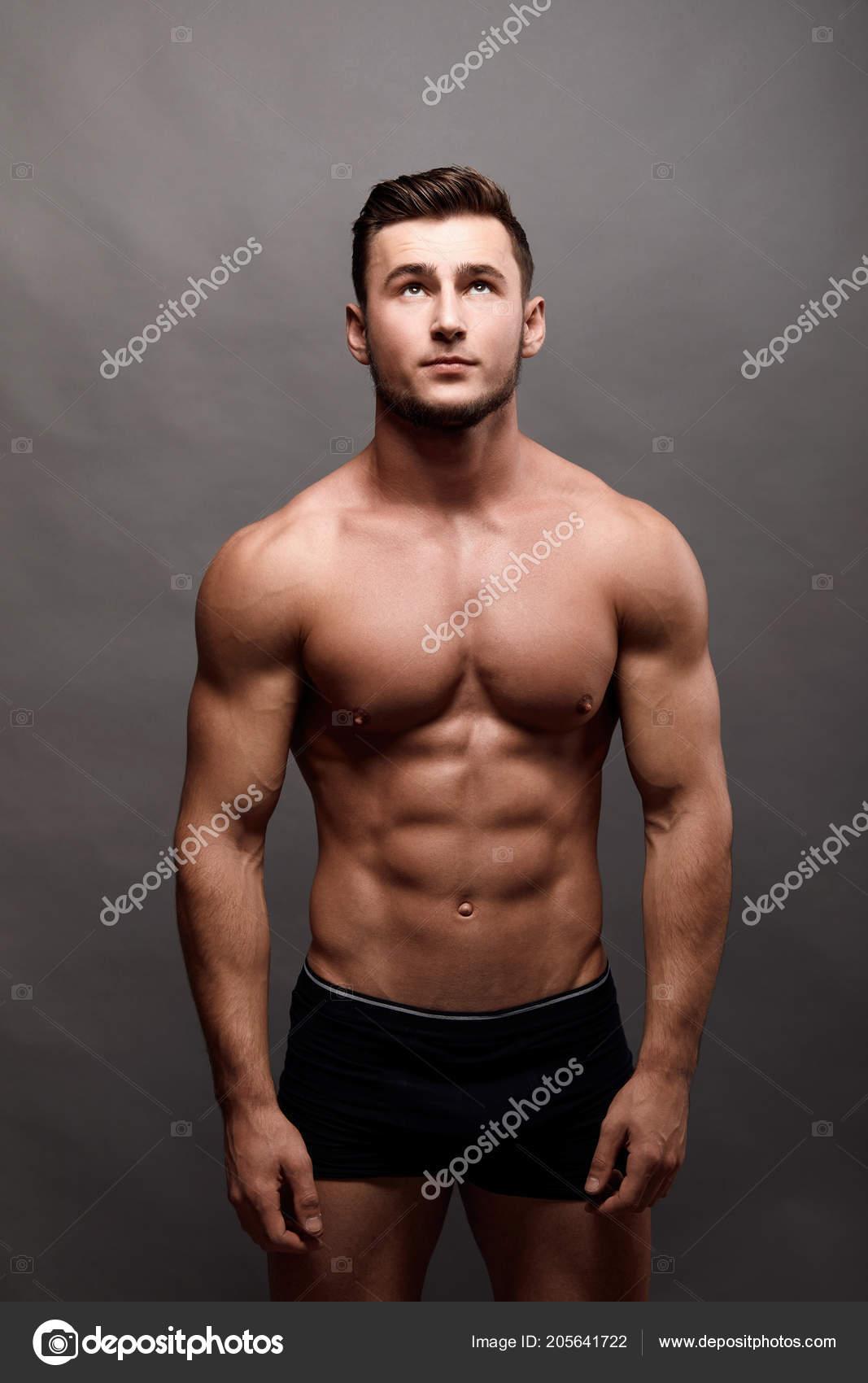 Sexy Starke Bodybuilder Bodybuilder Mann Mit Perfekten