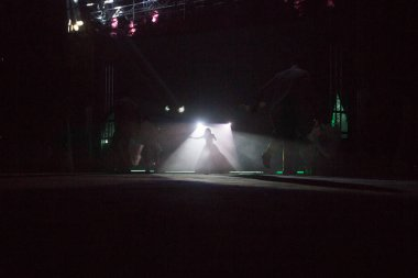 Stage lights  and Concert with colored spotlights