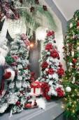 Vánoce a šťastný nový rok dekorace. Vánoční pozadí w
