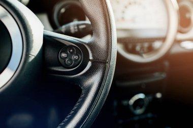 car interior detail. Modern car Interior.