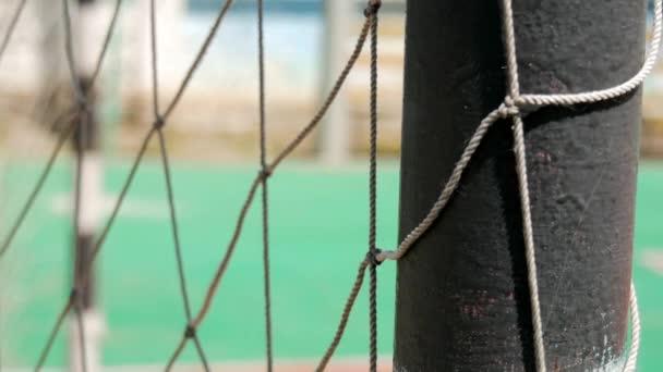 Fotbalové brány sítě, detail