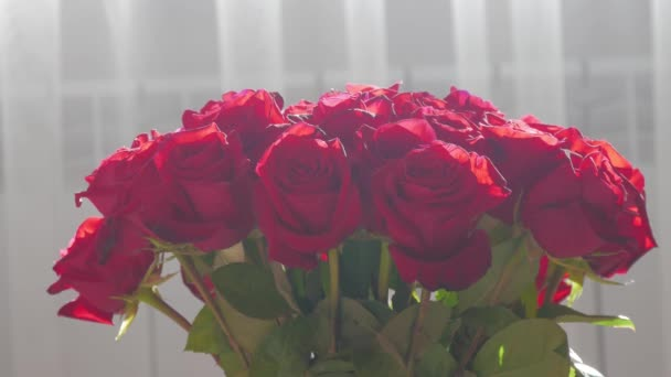 Red Rose flower in flower bouquet.
