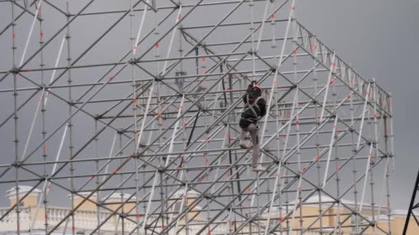 Siluety Pánská inženýři staveniště stavební pracovník na staveništi.