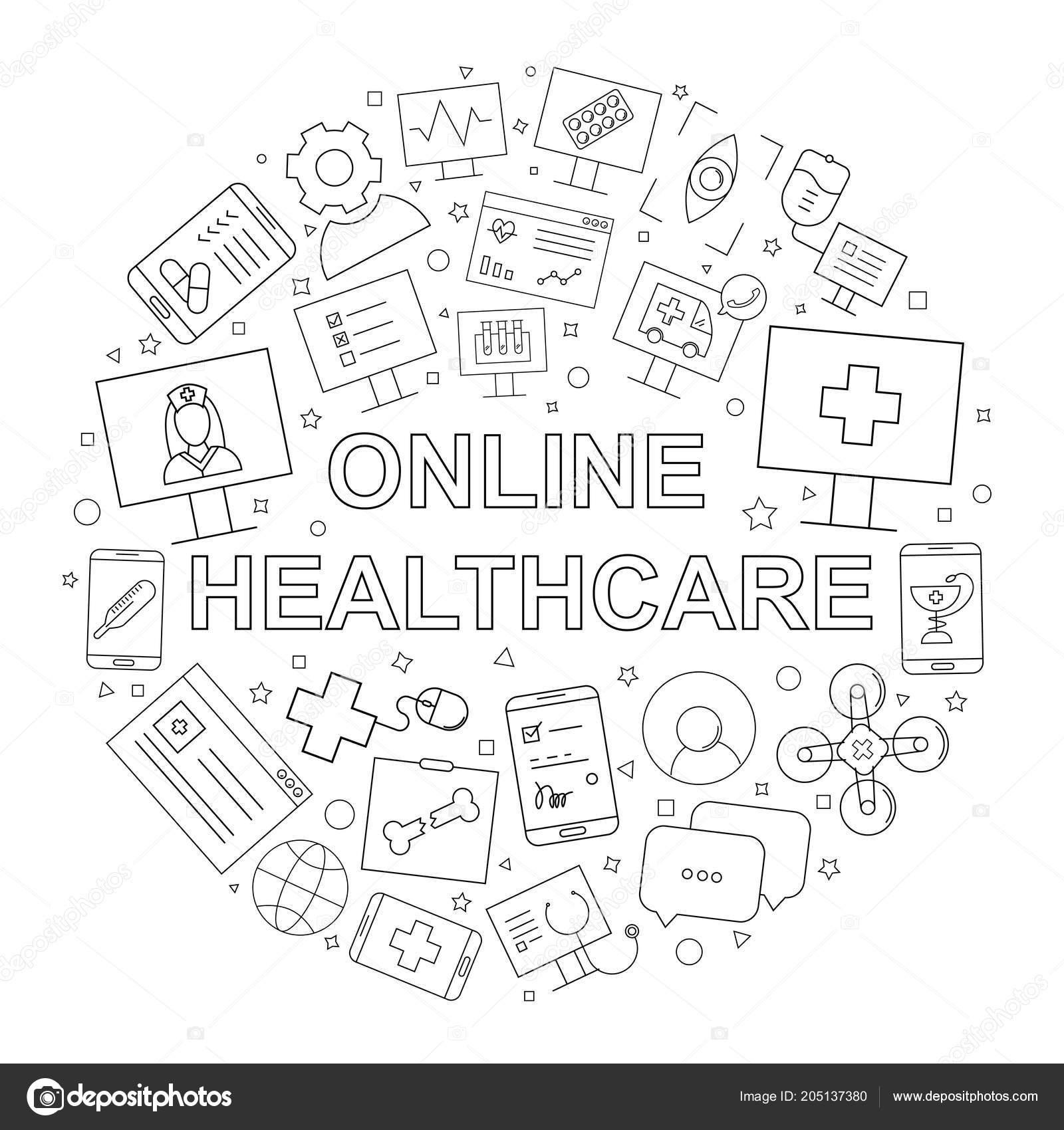 Vettore Sfondi Cellulare Medicina Modello Assistenza Sanitaria